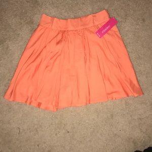 Orange/peach/salmon skirt